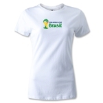 2014 FIFA World Cup Brazil(TM) Women's Landscape Emblem T-Shirt (White)