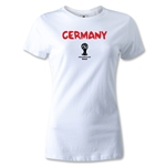 Germany 2014 FIFA World Cup Brazil(TM) Women's Core T-Shirt (White)