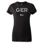 Germany 2014 FIFA World Cup Brazil(TM) Women's Elements T-Shirt (Black)