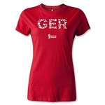 Germany 2014 FIFA World Cup Brazil(TM) Women's Elements T-Shirt (Red)