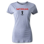 Switzerland 2014 FIFA World Cup Brazil(TM) Womens Core T-Shirt (Grey)
