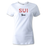 Switzerland 2014 FIFA World Cup Brazil(TM) Women's Elements T-Shirt (White)