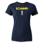 Ecuador 2014 FIFA World Cup Brazil(TM) Women's Core T-Shirt (Navy)