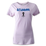 Ecuador 2014 FIFA World Cup Brazil(TM) Women's Core T-Shirt (Pink)