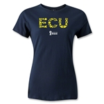 Ecuador 2014 FIFA World Cup Brazil(TM) Women's Elements T-Shirt (Navy)