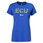 Ecuador 2014 FIFA World Cup Brazil(TM) Women's Elements T-Shirt (Royal)