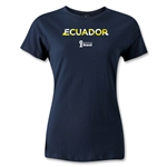 Ecuador 2014 FIFA World Cup Brazil(TM) Women's Palm T-Shirt (Navy)