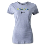 Ecuador 2014 FIFA World Cup Brazil(TM) Women's Palm T-Shirt (Grey)