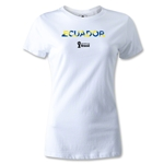 Ecuador 2014 FIFA World Cup Brazil(TM) Women's Palm T-Shirt (White)