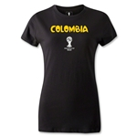 Colombia 2014 FIFA World Cup Brazil(TM) Women's Core T-Shirt (Black)