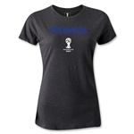 Colombia 2014 FIFA World Cup Brazil(TM) Women's Core T-Shirt (Dark Grey)