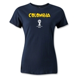 Colombia 2014 FIFA World Cup Brazil(TM) Women's Core T-Shirt (Navy)