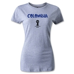 Colombia 2014 FIFA World Cup Brazil(TM) Women's Core T-Shirt (Grey)