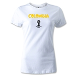 Colombia 2014 FIFA World Cup Brazil(TM) Women's Core T-Shirt (White)