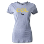Colombia 2014 FIFA World Cup Brazil(TM) Women's Elements T-Shirt (Grey)
