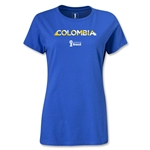 Colombia 2014 FIFA World Cup Brazil(TM) Women's Palm T-Shirt (Royal)