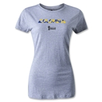 Colombia 2014 FIFA World Cup Brazil(TM) Women's Palm T-Shirt (Grey)