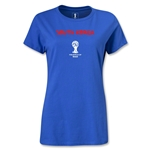 South Korea 2014 FIFA World Cup Brazil(TM) Women's Core T-Shirt (Royal)