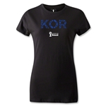 South Korea 2014 FIFA World Cup Brazil(TM) Women's Elements T-Shirt (Black)