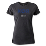 South Korea 2014 FIFA World Cup Brazil(TM) Women's Elements T-Shirt (Dark Gray)