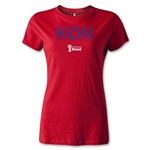 South Korea 2014 FIFA World Cup Brazil(TM) Women's Elements T-Shirt (Red)