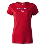 South Korea 2014 FIFA World Cup Brazil(TM) Women's Palm T-Shirt (Red)