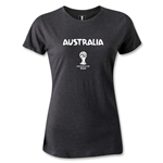 Australia 2014 FIFA World Cup Brazil(TM) Women's Core T-Shirt (Dark Gray)