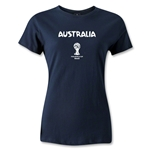 Australia 2014 FIFA World Cup Brazil(TM) Women's Core T-Shirt (Navy)