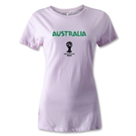 Australia 2014 FIFA World Cup Brazil(TM) Women's Core T-Shirt (Pink)