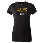 Australia 2014 FIFA World Cup Brazil(TM) Women's Elements T-Shirt (Black)