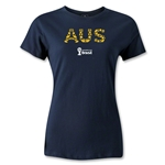 Australia 2014 FIFA World Cup Brazil(TM) Women's Elements T-Shirt (Navy)