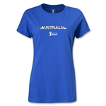 Australia 2014 FIFA World Cup Brazil(TM) Women's Palm T-Shirt (Royal)