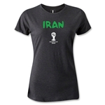 Iran 2014 FIFA World Cup Brazil(TM) Women's Core T-Shirt (Dark Gray)