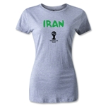 Iran 2014 FIFA World Cup Brazil(TM) Women's Core T-Shirt (Gray)