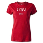 Iran 2014 FIFA World Cup Brazil(TM) Women's Elements T-Shirt (Red)