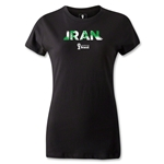 Iran 2014 FIFA World Cup Brazil(TM) Women's Palm T-Shirt (Black)