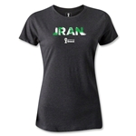Iran 2014 FIFA World Cup Brazil(TM) Women's Palm T-Shirt (Dark Gray)