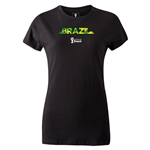 Brazil 2014 FIFA World Cup Brazil(TM) Women's T-Shirt (Black)