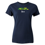 Brazil 2014 FIFA World Cup Brazil(TM) Women's T-Shirt (Navy)