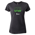2014 FIFA World Cup Brazil(TM) Women's Portugese All In One Rhythm T-Shirt (Dark Gray)