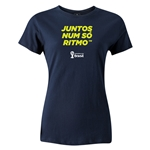 2014 FIFA World Cup Brazil(TM) Women's Portugese All In One Rhythm T-Shirt (Navy)