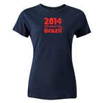 2014 FIFA World Cup Brazil(TM) Women's Logotype T-Shirt (Navy)