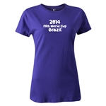 2014 FIFA World Cup Brazil(TM) Women's Logotype T-Shirt (Purple)
