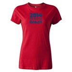 2014 FIFA World Cup Brazil(TM) Women's Logotype T-Shirt (Red)