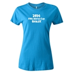 2014 FIFA World Cup Brazil(TM) Women's Logotype T-Shirt (Turquoise)
