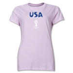 USA 2014 FIFA World Cup Brazil(TM) Women's Core T-Shirt (Pink)