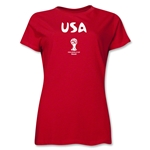 USA 2014 FIFA World Cup Brazil(TM) Women's Core T-Shirt (Red)
