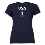 USA 2014 FIFA World Cup Brazil(TM) Women's Core T-Shirt (Navy)