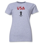 USA 2014 FIFA World Cup Brazil(TM) Women's Core T-Shirt (Grey)