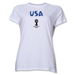 USA 2014 FIFA World Cup Brazil(TM) Women's Core T-Shirt (White)